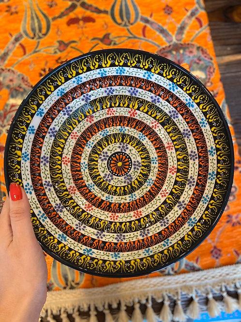"LARGE TURKISH CERAMIC SALAD BOWL, 25 cm (9.8""), 003"