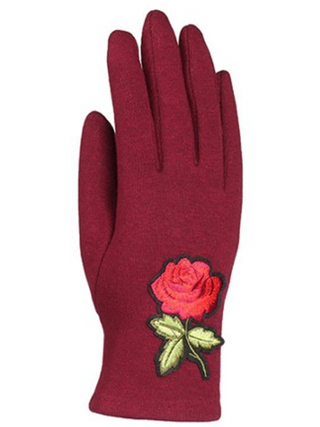UNIQUE ROSE GLOVES, SCREEN TOUCH, 003