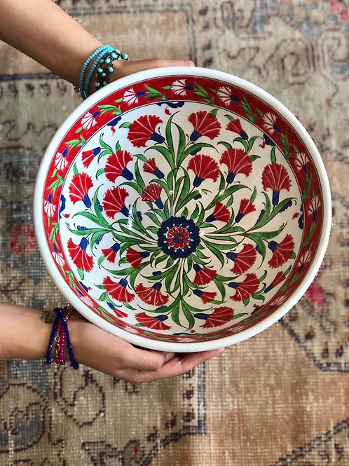 """OUTSTANDING HAND PAINTED STONE VASE, 30 cm (11.8"""")"""