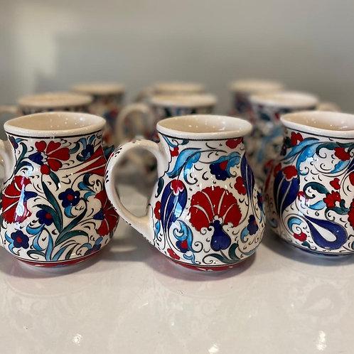 20 x ASSORTED LYKIA STYLE CERAMIC COFFEE CUPS