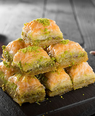 Turkish ramadan dessert Baklava with pis