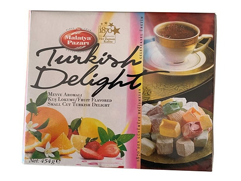 FRUIT FLAVORED SMALL CUT TURKISH DELIGHT, 454 GR (1 lbs)