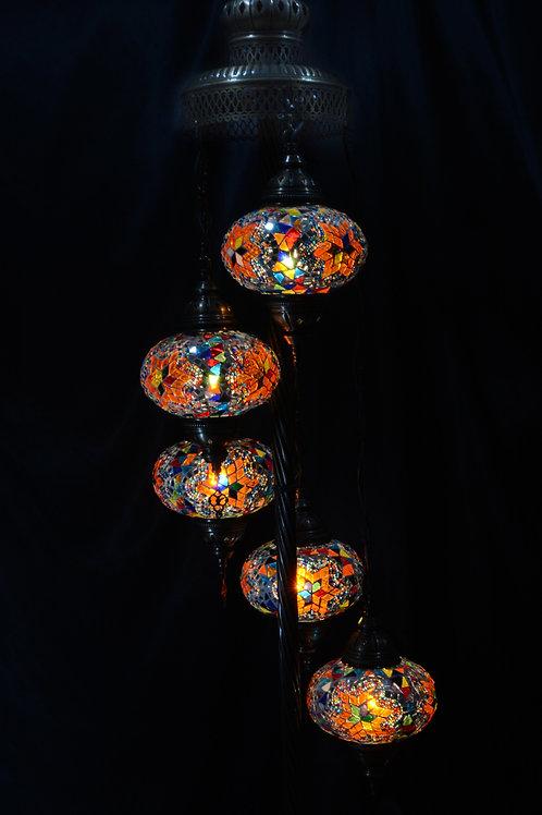 TURKISH MOSAIC FLOOR LAMP, 5 LAMPS