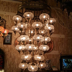 Ottoman lamps ottoman chandelier large transparent turkish chandelier 36 lamps aloadofball Choice Image