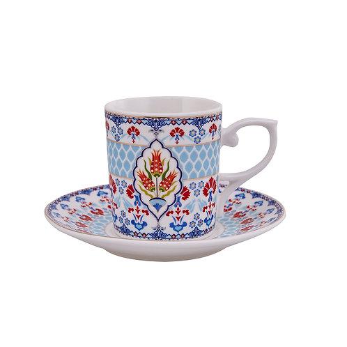 6x PORCELAIN TURKISH COFFEE SET OF SIX, 002