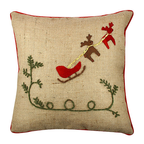 HANDMADE CHRISTMAS CUSHION COVER, 006