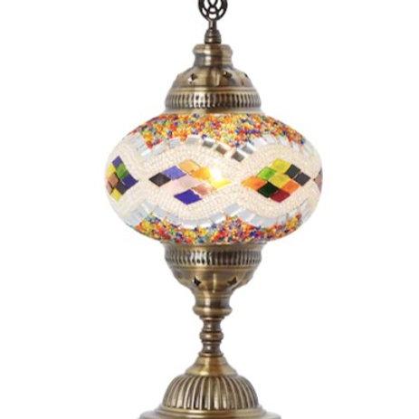 LARGE MOSAIC TABLE LAMP, 048