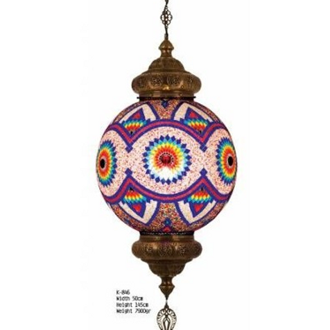 EXTRA LARGE UNIQUE TURKISH MOSAIC CHANDELIER