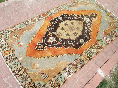 FADED OUSHAK RUG,  91 x 50 inches 232 x 126 cm