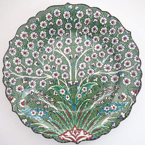 TREE OF LIFE TURKISH CERAMIC PLATE, 30 CM