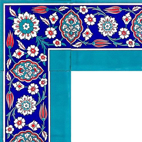 """4x TURKISH CERAMIC TILE BORDER, 20 x 20 cm ( 7.8"""" x 7.8"""" ), 0047"""