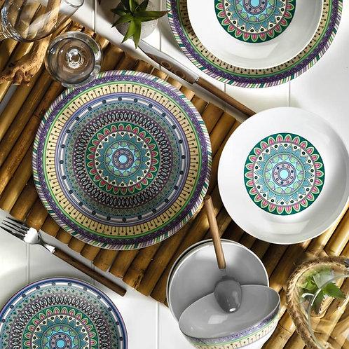 24 PIECES EXCLUSIVE TURKISH DINNERWARE, LEAF KT616612