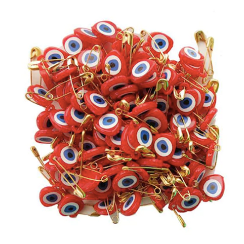 RED EVIL EYE, 100 Pieces