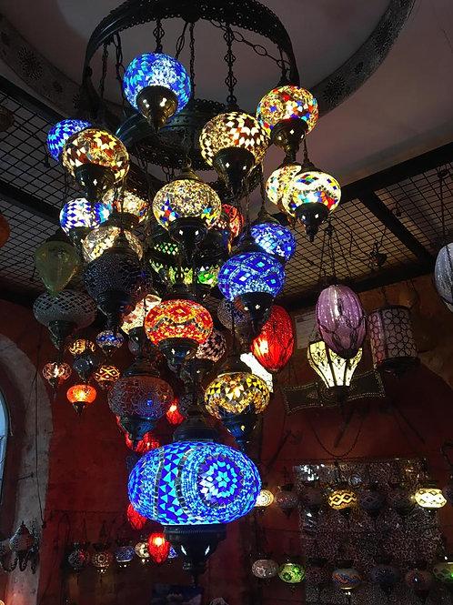 TURKISH MOSAIC CHANDELIER, 26 LAMPS