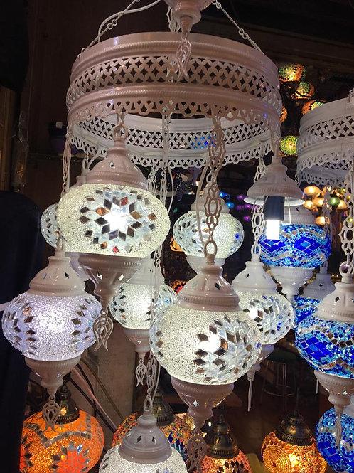 UNIQUE MOSAIC CHANDELIER, 9 LAMPS, NO 2