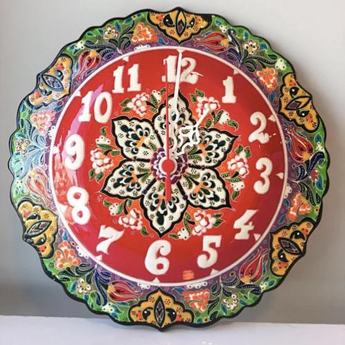 "TURKISH CERAMIC WALL CLOCK, 25 CM (9.84"")"