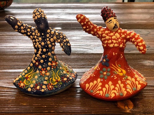 """ASSORTED WHIRLING DERVISH CERAMIC FIGURE, 15 CM (5.9""""), 10 PIECES"""