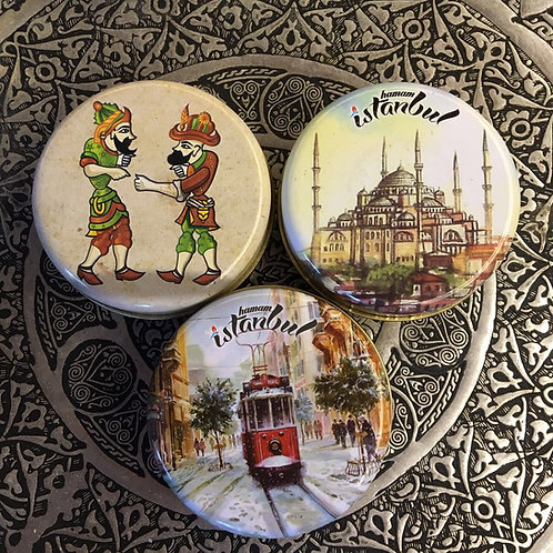 OLIVE OIL HAMMAM SOAP SET WITH ORIENTAL BOXES