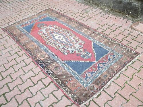 """TURKISH OUSHAK RUG  105 x 55"""" (268 cm x 140 cm)"""