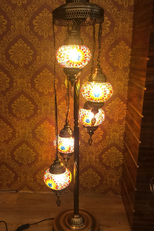 "MOSAIC FLOOR LAMP, 5 GLOBES, NO 2, GLOBE SIZE: 12 CM (4.7"")"