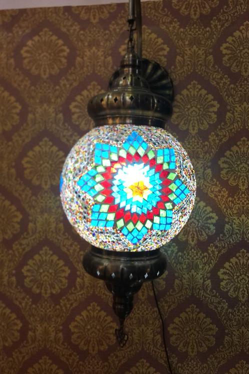MOSAIC WALL LAMP, 25 cm GLOBE DIAMETER