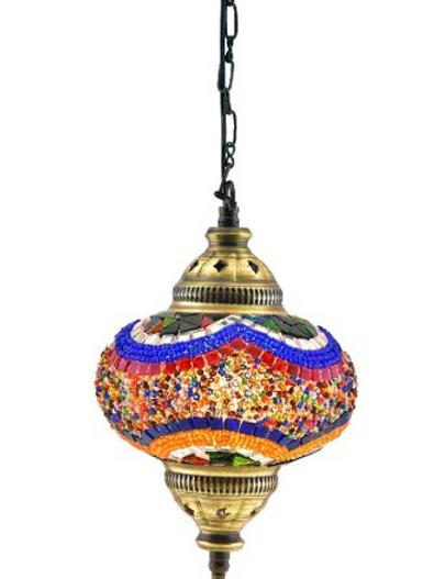 LARGE SINGLE MOSAIC HANGING LAMP, 18 CM