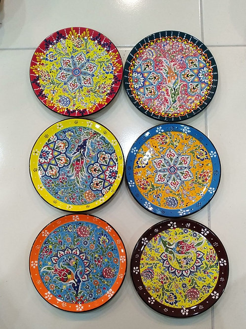 "50x ASSORTED TURKISH CERAMIC PLATES, 18 cm (7""), RELIEF STYLE"