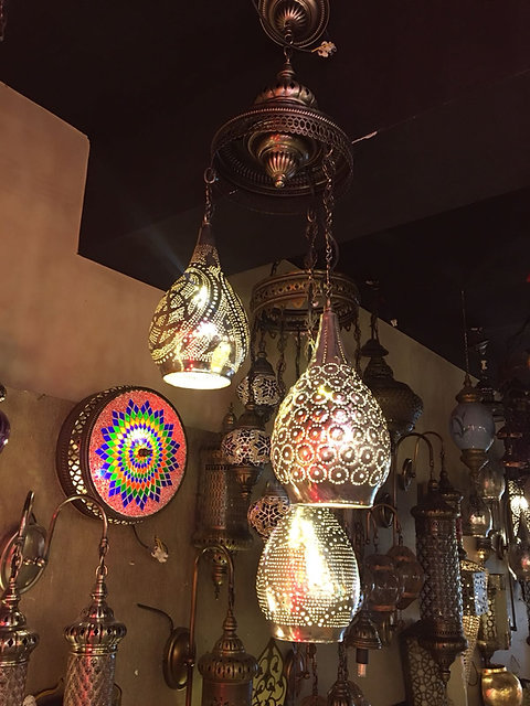 Handmade Artwork Moroccan Chandelier 3 Lamps