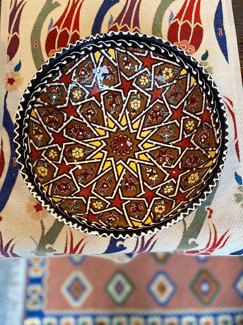 "LARGE TURKISH CERAMIC SALAD BOWL, 25 cm (9.8""), 009"