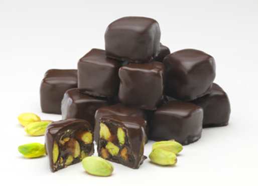 BITTER CHOCOLATE COVERED PISTACHIO TURKISH DELIGHT