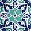 """Thumbnail: IZNIK CERAMIC TILE SET, 20 x 20 cm ( 7.8"""" x 7.8"""" ), 0026"""
