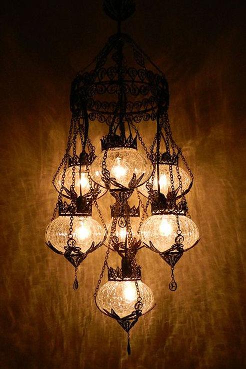 MOSAIC TRANSPARENT CHANDELIER, 7 LAMPS