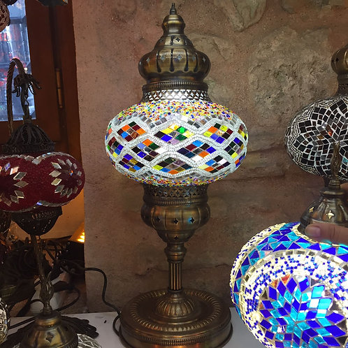 5 x ASSORTED LARGE MOSAIC DESK LAMP