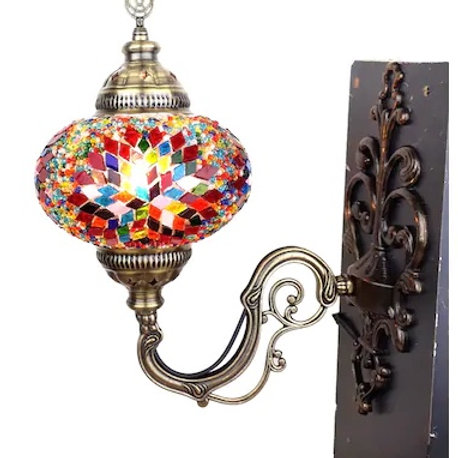 MOSAIC WALL LAMP, BEIGE 0017