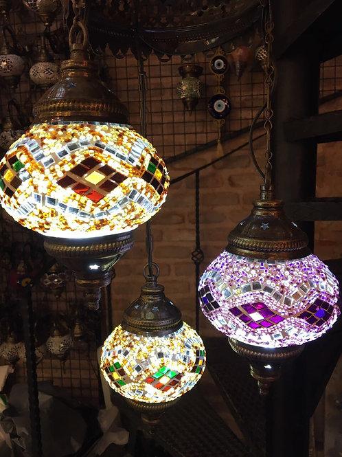 MOSAIC CHANDELIER, 3 LAMPS