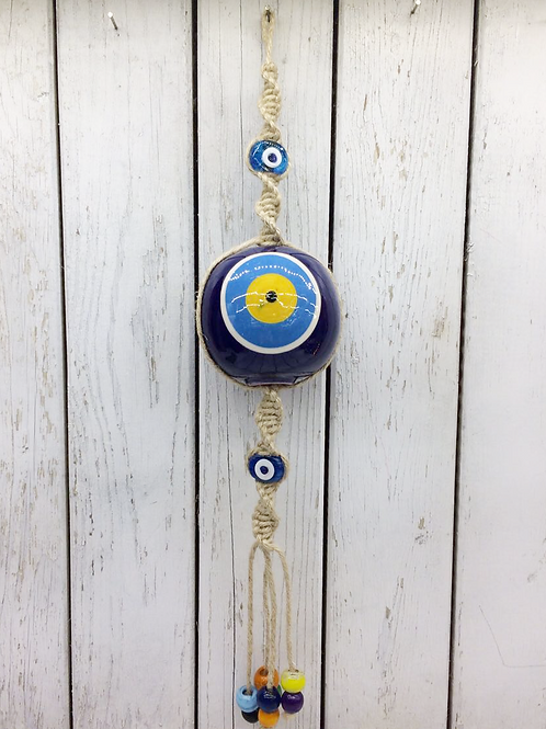 EVIL EYE CERAMIC WALL HANGING