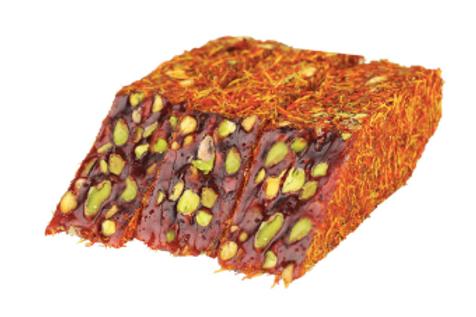 10X Saffron Coated Pomegranate  Flavor Pistachio Delight , D034