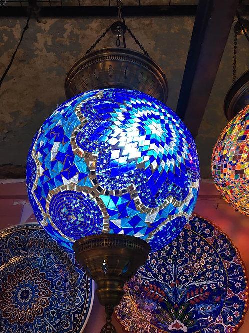 EXTRA LARGE MOSAIC CEILING LAMP, BLUE, 35 CM DIAMETER