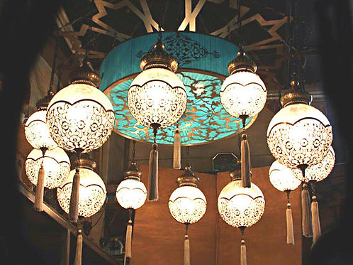 UNIQUE OTTOMAN CHANDELIER, 12 GLOBES
