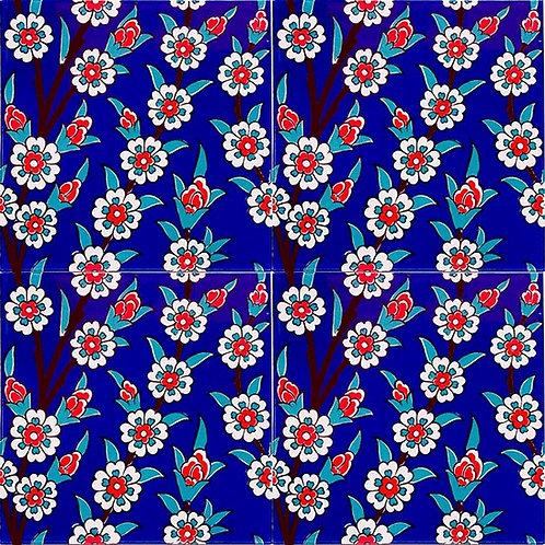 "DAISY CERAMIC TILE, 20 x 20 cm ( 7.8"" x 7.8"" ), 0029"