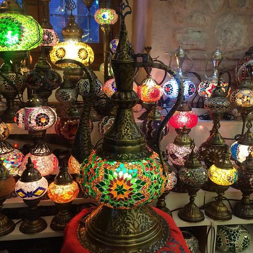 TURKISH MOSAIC EWER LAMP, 65 cm