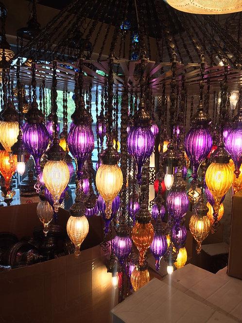 87 LAMPS LARGE BLOWN GLASS OTTOMAN CHANDELIER