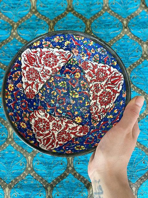 "LARGE TURKISH CERAMIC SALAD BOWL, 22 cm (8.6""), FLORAL 009"