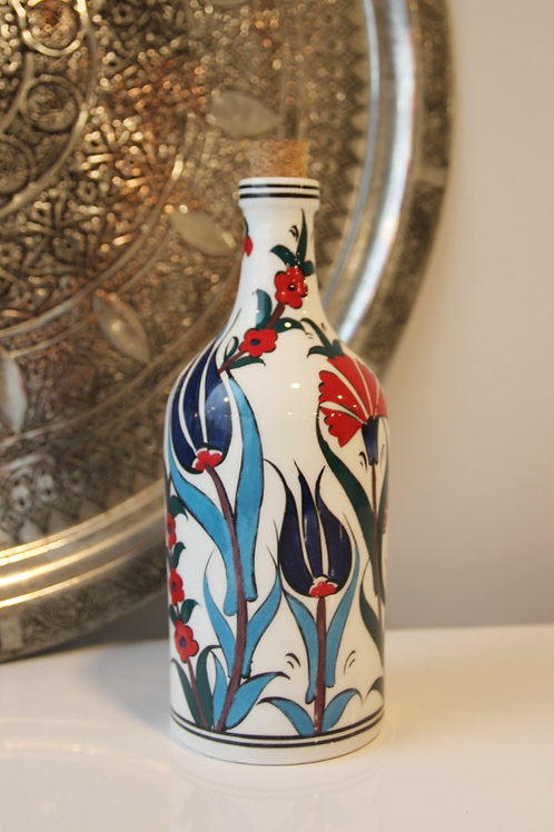 25 cm UNIQUE TURKISH CERAMIC OLIVE OIL BOTTLE, 5 BOTTLES