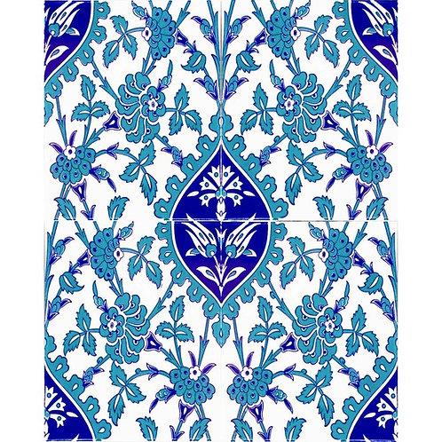 "TURKISH CERAMIC TILE, 20 x 25 cm ( 7.8"" x 9.8"" ), 0035"