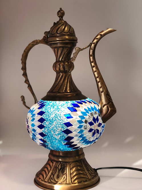 MOSAIC EWER LAMP, BLUE 002