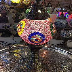 PINK MOSAIC TABLE LAMP ...