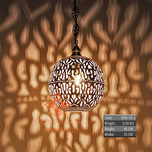 LARGE HANDMADE MOROCCAN HANGING LAMP