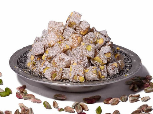 PISTACHIO AND COCNUT TURKISH DELIGHT, 500 GR