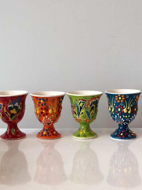 TURKISH CERAMIC EGG CUP SET OF FOUR
